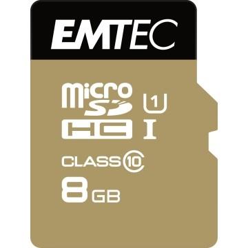 EMTEC 8GB Micro SDHC Classe10 Gold plus U1 + adattatore