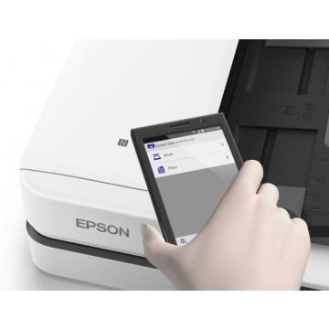 Epson WorkForce DS-1660W piano 600 x 600DPI A4 Nero, Bianco