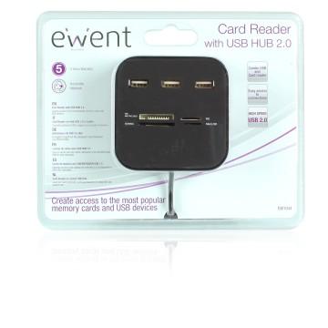 EWENT EW1044 USB 2.0 Nero lettore di schede