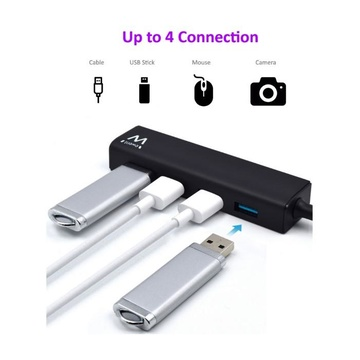 EWENT EW1136 Perno e concentratore USB 3.0 Nero