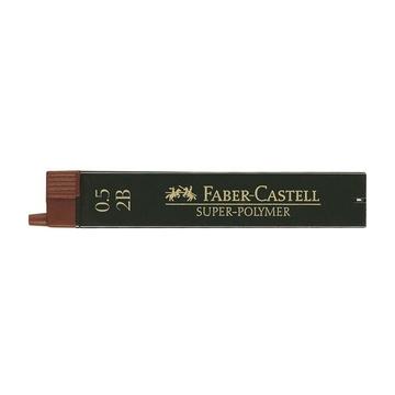 Faber Castell 120502 Mina 2B 0.5mm Nero 12 pezzi