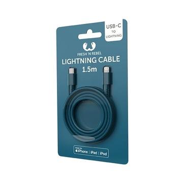 FRESH 'N REBEL 2CLC150PB cavo per cellulare Blu USB C Lightning 1,5 m