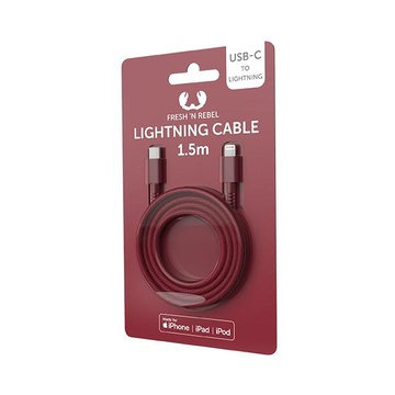 FRESH 'N REBEL 2CLC150RR cavo per cellulare Rosso USB C Lightning 1,5 m