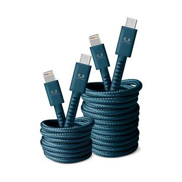 FRESH 'N REBEL 2CLC300PB cavo per cellulare Blu USB C Lightning 3 m