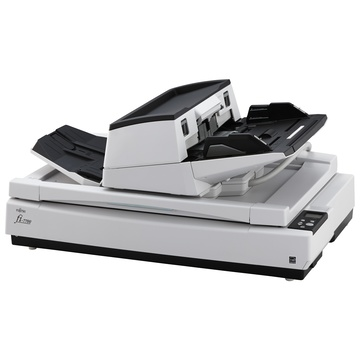 Fujitsu fi-7700S 600 x 600 DPI Scanner piano e ADF Nero, Bianco A3