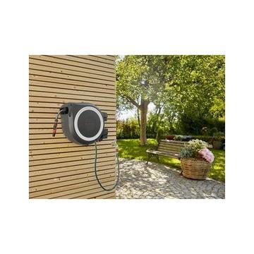 Gardena RollUp L Rocchetto montato a muro Automatico Nero, Blu, Grigio