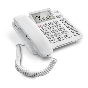 Gigaset DL580 Telefono analogico Bianco Identificatore di chiamata