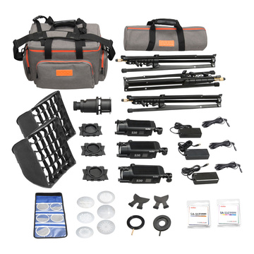 Godox Kit Led SA-D con 3 S30 + accessori