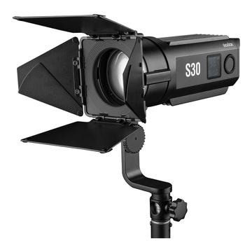 Godox S30 Illuminatore LED + stativo 213B per lampade da studio e flash