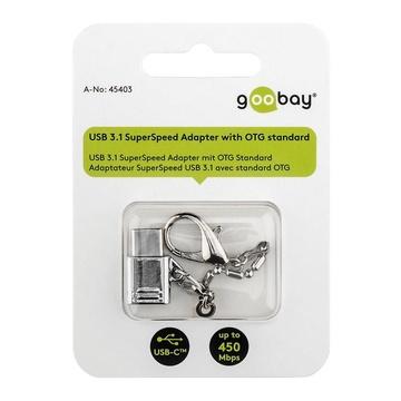 GOOBAY 45403 cavo di interfaccia e adattatore USB C Micro-USB B Argento