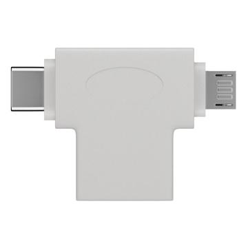 GOOBAY 55555 cavo di interfaccia e adattatore USB A Micro-USB B Bianco