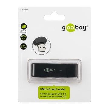 GOOBAY 59089 Lettore di schede Nero USB 3.0 (3.1 Gen 1) Type-A