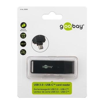 GOOBAY 59090 lettore di schede Nero USB 3.0 (3.1 Gen 1) Type-C