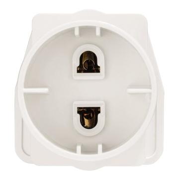 Hama 00047629 adattatore per presa di corrente Tipo E/F ibrido Tipo G (UK) Bianco