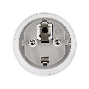 Hama 00121991 adattatore per presa di corrente Tipo F Tipo G (UK) Bianco