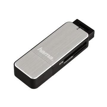 Hama 123900 lettore di schede Nero, Argento USB 3.0