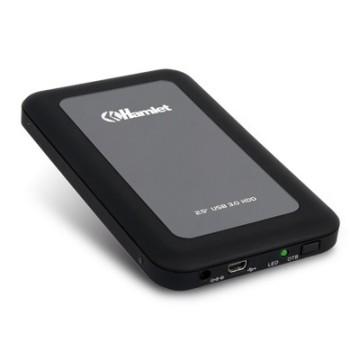"Hamlet Box, 2.5"", SATA-II, USB 3.0, 5Gbps, Nero/Gris"