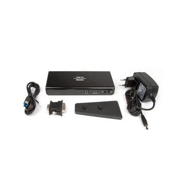 Hamlet Docking Station USB 3.0 Dual Display dual display DVI e HDMI, hub con 6 porte usb, LAN E AUDIO