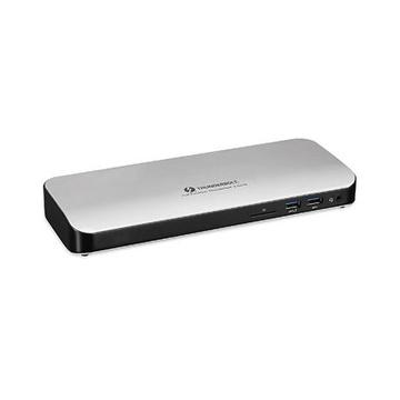 Hamlet HDOCKS500TB3PD60 Cablato USB 3.0 (3.1 Gen 1) Type-C Nero, Argento