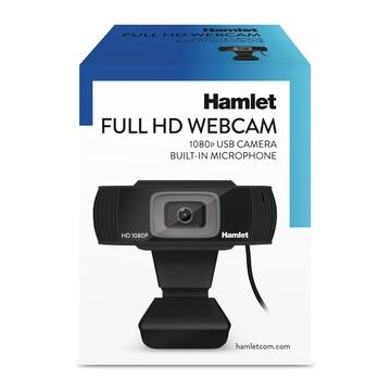 Hamlet HWCAM1080 2 MP 1920 x 1080 Pixel USB 2.0 Nero
