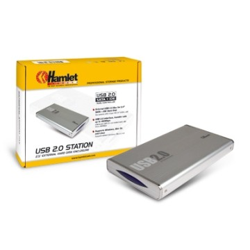 "Hamlet HXD2CCUU USB 2.0 Station 2.5"" External Hard Disk Enclosure"