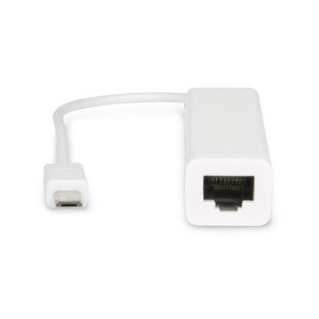 Hamlet Micro USB OTG to LAN converte in RJ-45 Fast Ethernet