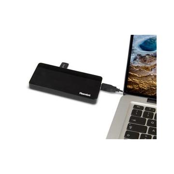 Hamlet XHUB70036 USB 3.0 (3.1 Gen 1) Type-B 5000 Mbit/s Nero