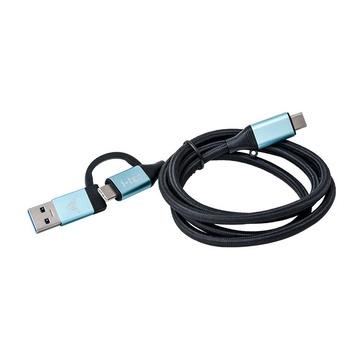 I-TEC C31USBCACBL cavo USB 1 m 3.2 Gen 1 (3.1 Gen 1) USB C Nero, Blu