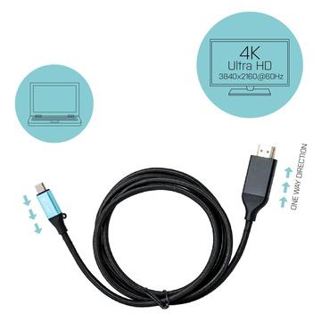 I-TEC Cavo adattatore USB-C 3.1 per HDMI 4K / 60Hz 150cm connette il tuo notebook al monitor
