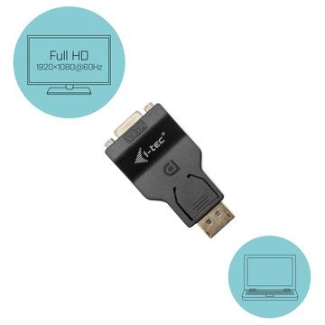 I-TEC DP2VGAADA cavo di interfaccia e adattatore DisplayPort VGA Nero