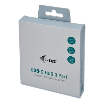 I-TEC Metal C31METALG3HUB hub di interfaccia USB 3.2 Gen 2 (3.1 Gen 2) Type-C 5000 Mbit/s Grigio