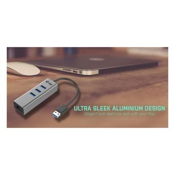 I-TEC Metal U3METALG3HUB USB 3.2 Gen 1 Grigio