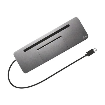 Metal USB-C Ergonomic 4K 3x Display Docking Station with Power Delivery 85 W + Universal Charger 112 W
