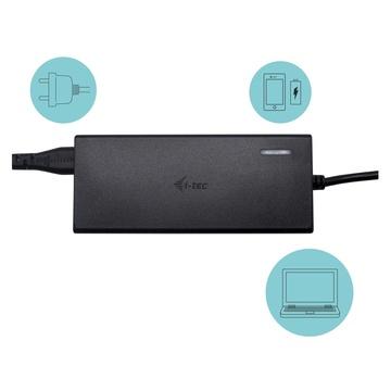 I-TEC Universal Charger USB-C PD 3.0 + 1x USB-A, 77 W