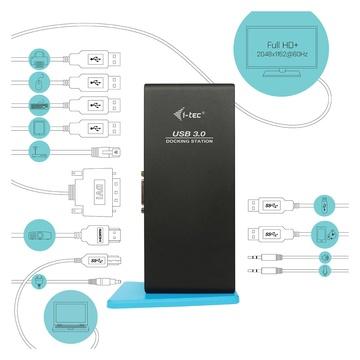 I-TEC USB 3.0 Dual Docking Station HDMI DVI