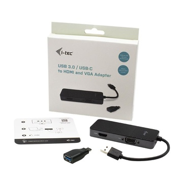 I-TEC USB 3.0 / USB-C Dual HDMI and VGA Video Adapter