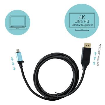 I-TEC USB-C DisplayPort Cable Adapter 4K / 60 Hz 150cm