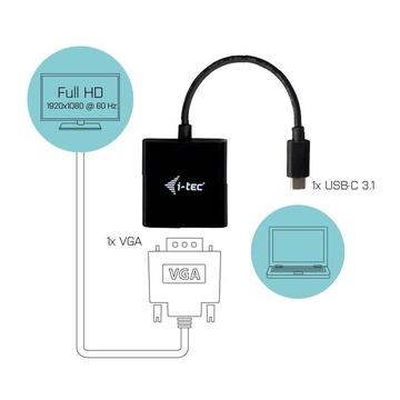 I-TEC USB-C VGA Adapter 1920 x 1080p/60 Hz