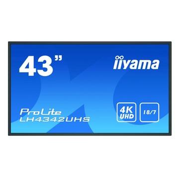 "IIyama LH4342UHS-B3 42.5"" IPS 4K Ultra HD Nero"