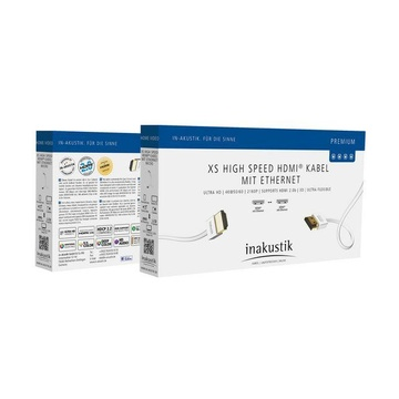 In - Akustik Inakustik 004246807 cavo HDMI 0,75 m HDMI tipo A (Standard) Bianco
