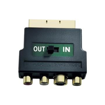 In - Akustik 008323 Scart RCA Nero cavo di interfaccia e adattatore
