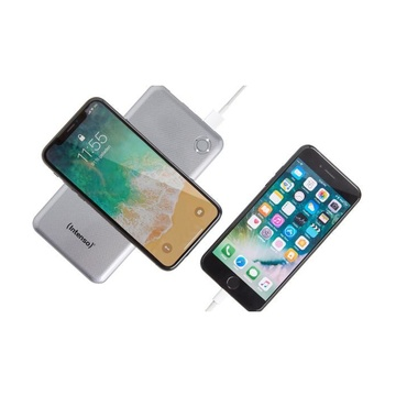 Intenso WP10000 LiPo 10000 mAh Carica wireless Argento
