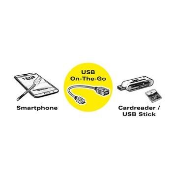ITB ROLINE 11.02.8311 cavo USB 0,15 m 2.0 Micro-USB B USB A Nero