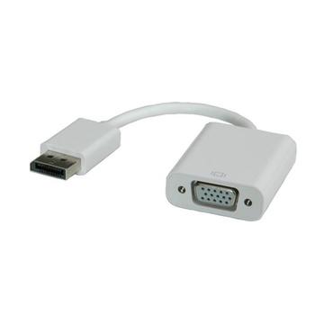 ITB ROLINE DisplayPort-VGA Adapter, M/F Bianco