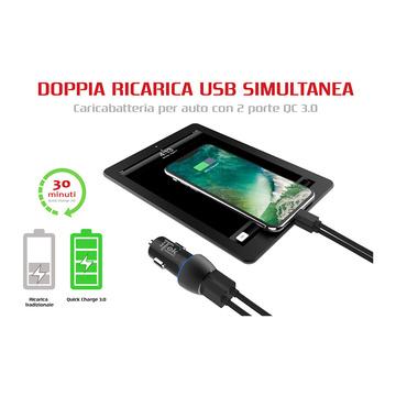iTek ITSCC2U36 Caricabatterie da Auto 36W Nero
