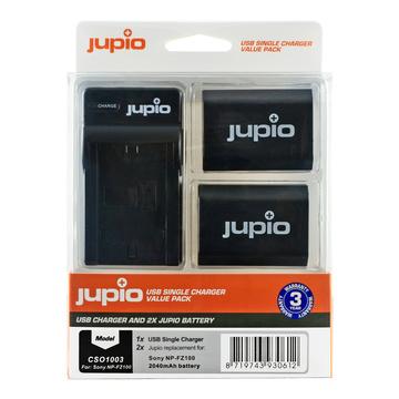 Jupio Caricabatterie CSO1003 + 2 Batterie per Sony NP-FZ100