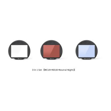 Kase Filtro Kit Clip 3 in 1 SET (MCUV/ND16/Neutral Night) per Fuji GFX50 - GFX100