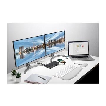 KENSINGTON SD4780P Cablato USB 3.2 Gen 1 Type-C Nero
