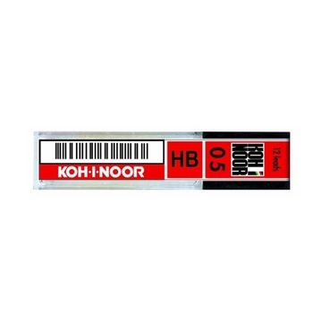 Koh-I-Noor Micromine 0.5mm, 12 Pack mina B