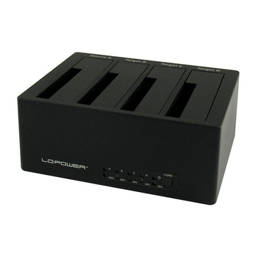 LC Power LC-DOCK-U3-4B docking station USB 3.0 Type A Nero